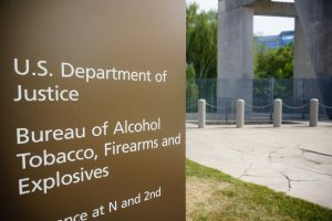 A sign outside the headquarters of the ATF
