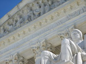 The Authority of Law statue and the Supreme Court in Washington, D.C.