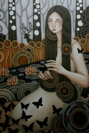 Change is world's second nature. In this work of De Jesus, the butterflies are not only symbols of enchantment but also of change, in my own point of view.