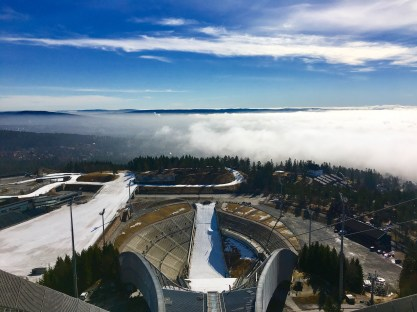 View from atop the ski jump in Oslo