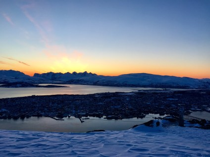 Sunset over Tromsø