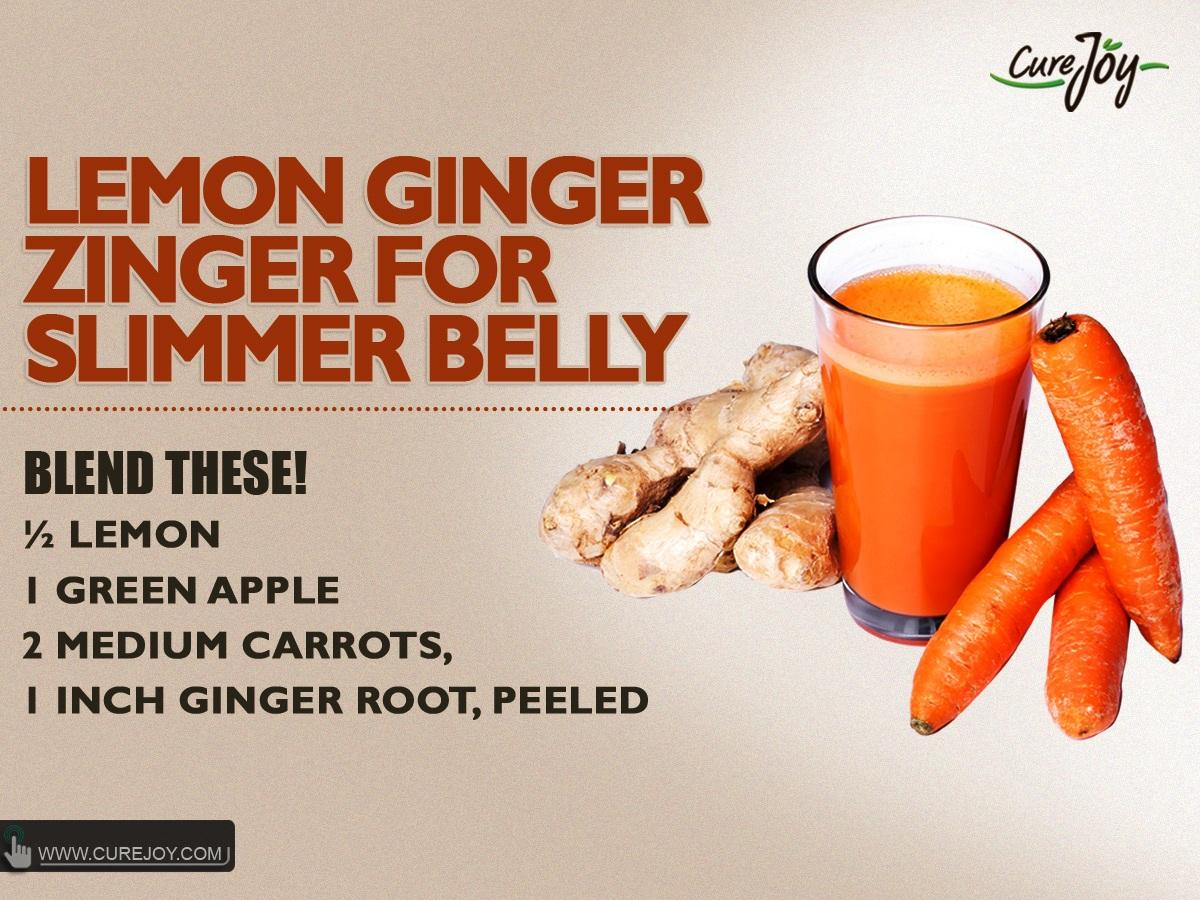 Lemon Ginger Zinger for Slimmer Belly