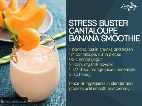 Stress-Buster-Cantaloupe-Banana-Smoothie