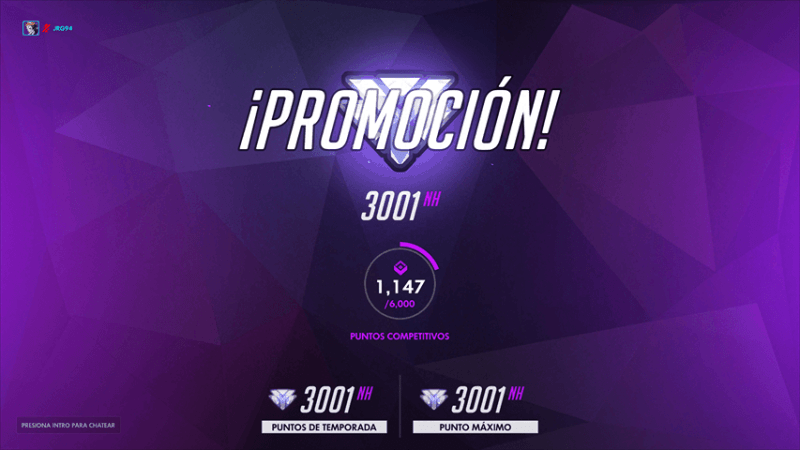 Overwatch Diamond Promotion in Spanish