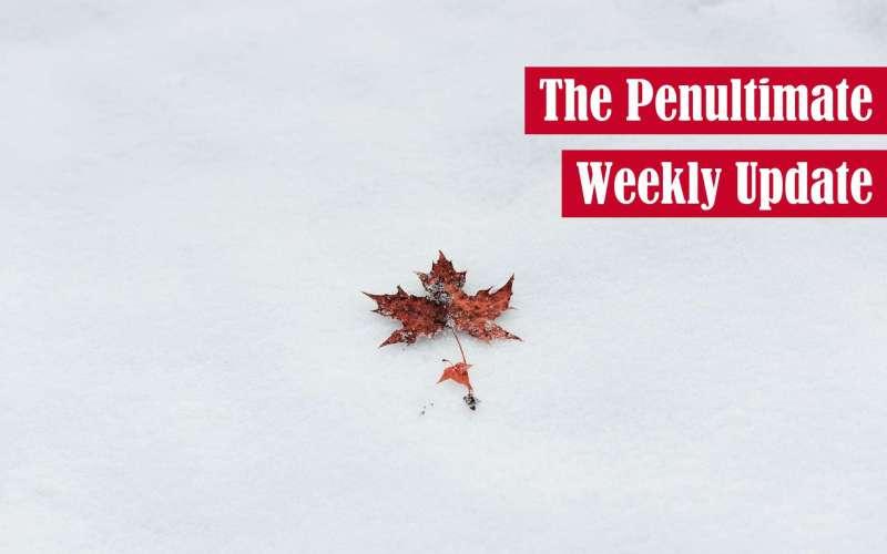 The Penultimate Weekly Update