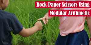 Rock Paper Scissors Using Modular Arithmetic