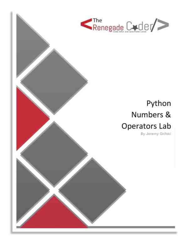 Python Numbers & Operators Lab Cover Page
