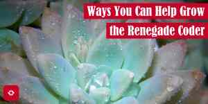 Ways You Can Help Grow The Renegade Coder Featured Image