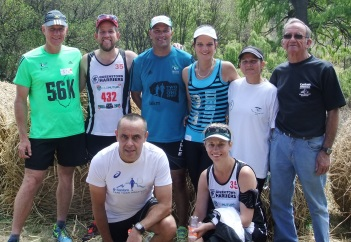 WORTH IT: Harriers from Komani who participated in the Bonthoek run were, back from left, Henk Lombard, Stephan Els, Neville Warmberg, Janneke du Preez, Janice McKerry, Piet Scholtz and front from left, Steven Knowles, Liezl Heideman