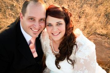 Morne Edworthy and Ilsa van Heerden were married in Komani  Picture: LEANDI DU PREEZ