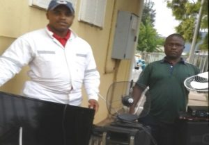BIG BUST: Ezibeleni policemen, from left, detective constable Zukile Keyi and detective warrant officer, Msawenkosi Magwijana, recovered suspected stolen goods and arrested suspects on Monday