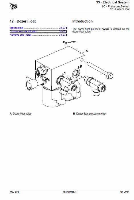 JCB 48Z-1, 51R-1 Mini Digger Excavator Service Manual