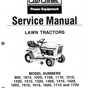 Cub Cadet Service Repair Manual