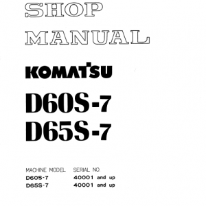 Komatsu PC650-5 and PC710-5 Excavator Service Manual