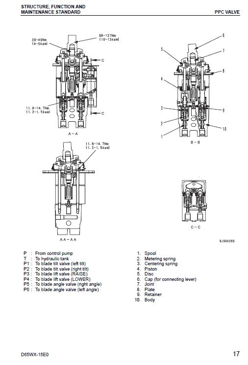 Komatsu D65WX-15E0 Dozer Service Manual