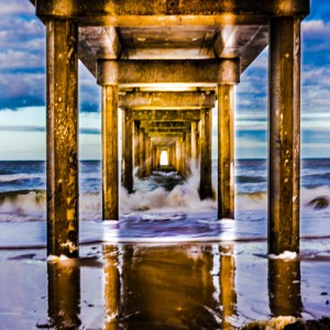 Brighton Beach jetty, Adelaide, South Australia.