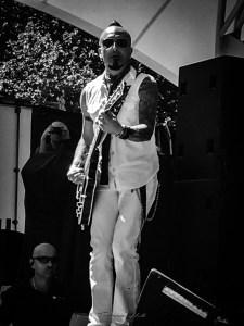 Guitarist Zakk Zedras, Chocolate Starfish, at Red Hot Summer Tour, Canberra, 24 February 2019