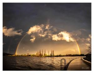 Double rainbow on a spring afternoon, Australia. Photographer: Theresa Hall.