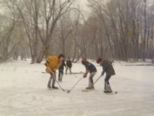 Shinny on the pond: My brother and I face-off