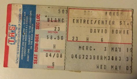 My ticket stub from the Heroes tour