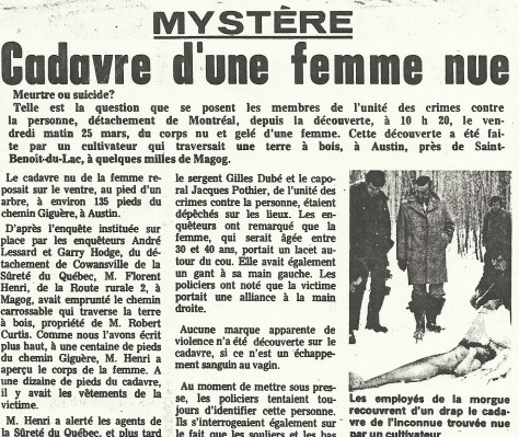Camirand article French April 3 1977