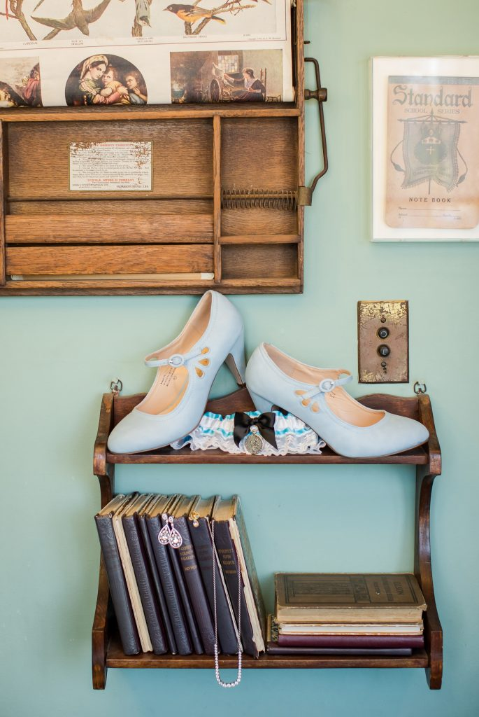 Blue Modcloth wedding shoes