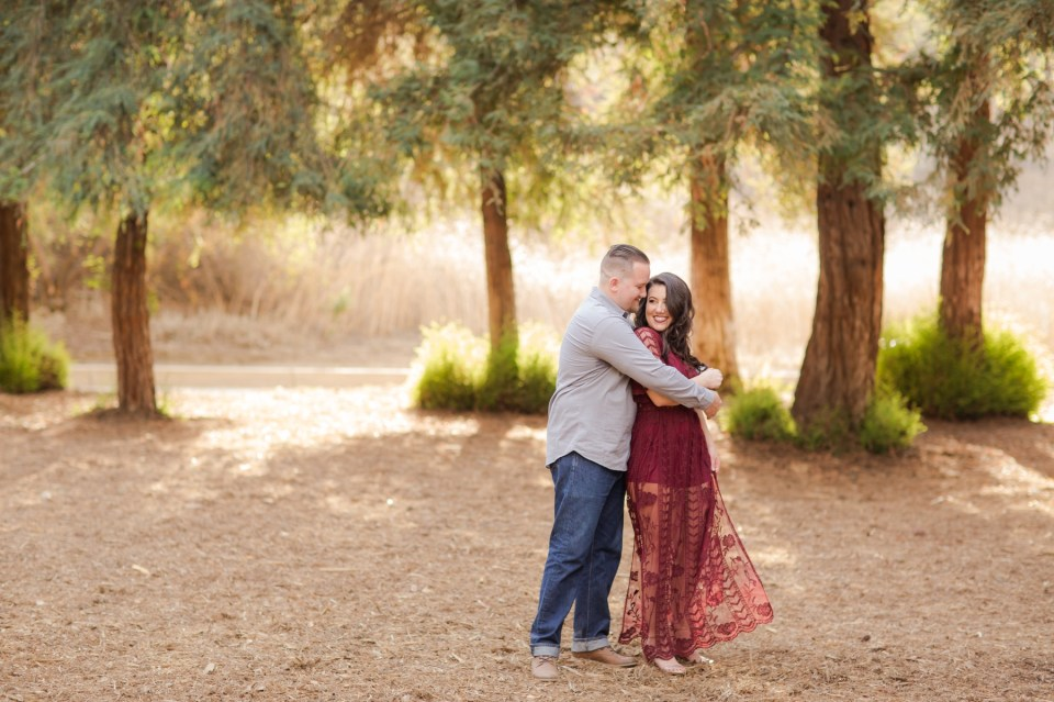 Red Lace Engagement Dress Photo