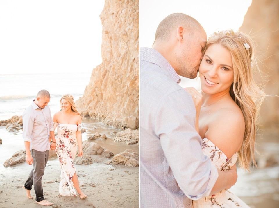 El Matador Beach Malibu Engagement Photo