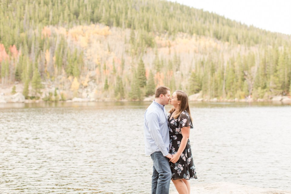 Sprague Lake Rocky Mountain National Park Engagement Session image