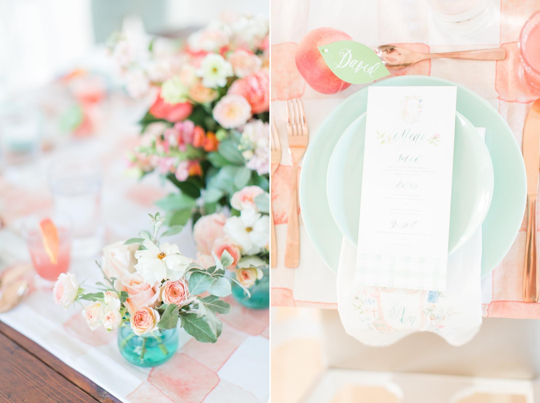 260b335b15 Mint and Peach Summer Inspired Wedding 6