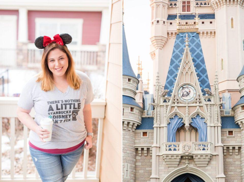 Disneyworld castle and minnie mouse ears