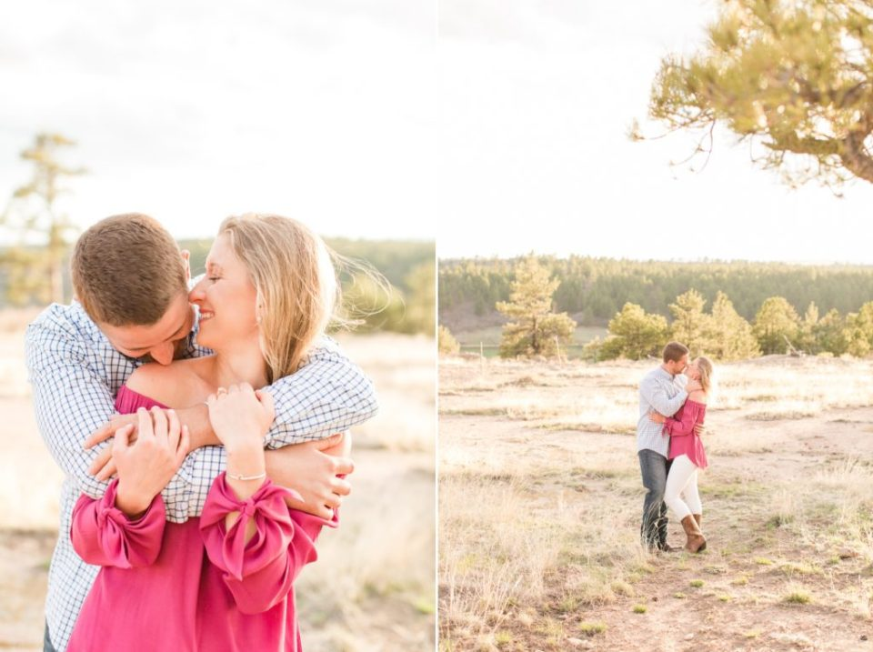 Castlewood Canyon Engagement session in Colorado. Colorado top engagement session locations.