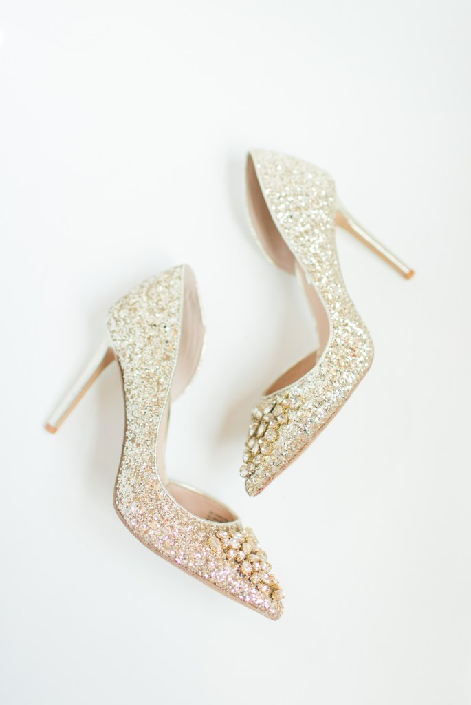 Wedding shoes gold high heals