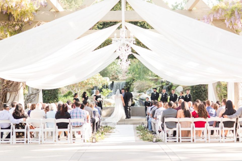 Wedding Ceremony at Coyote Hills golf course in Fullerton California.