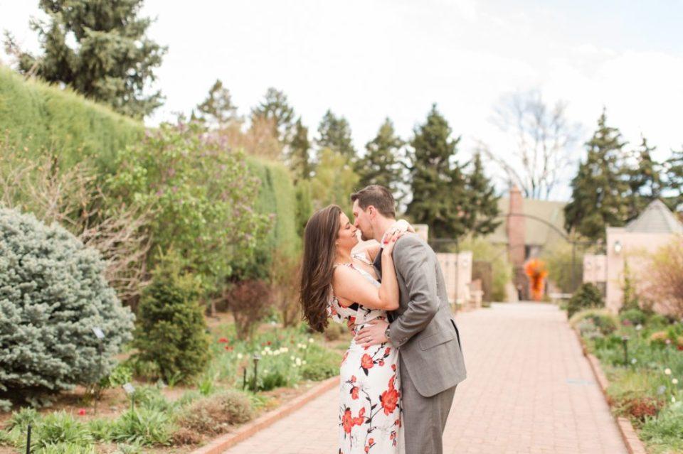 Denver Botanical Garden spring engagement session. Colorado wedding photographer