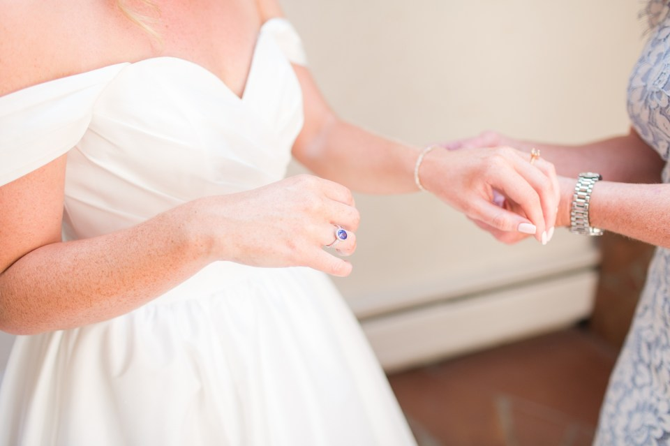 Something old, something new, something borrowed, something blue wedding detail inspiration.