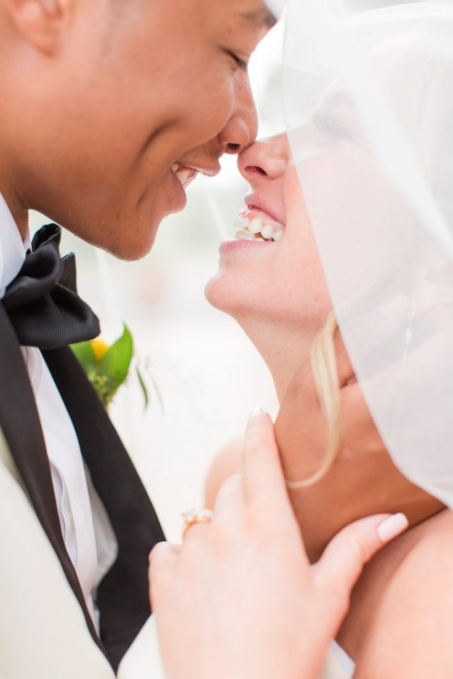 Creative close up bride and groom images at Villa Parker.