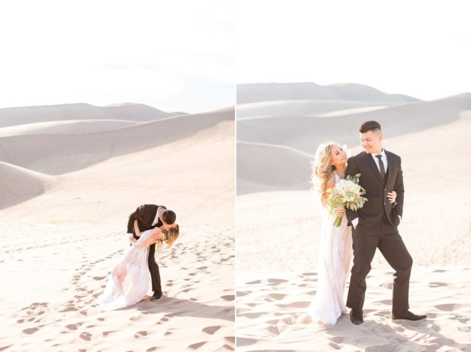 Great Colorado Sand Dunes engagement session location.