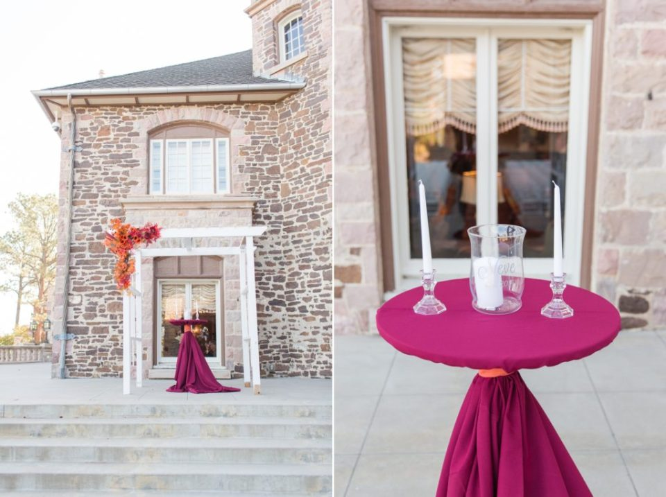 Outdoor Colorado wedding at Highlands Ranch Mansion in Colorado. Denver metro area wedding locations