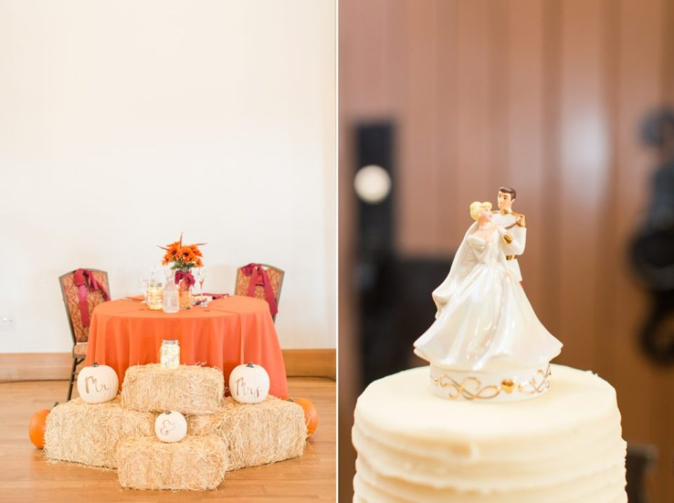 Fall themed wedding at the Highlands Ranch Mansion in Highlands Ranch Colorado.
