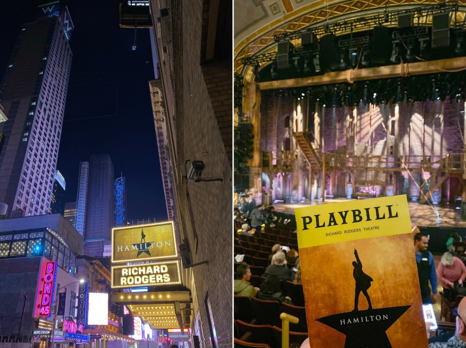 Hamilton playbill from the Richard Rodgers Theatre in New York City on Broadway.