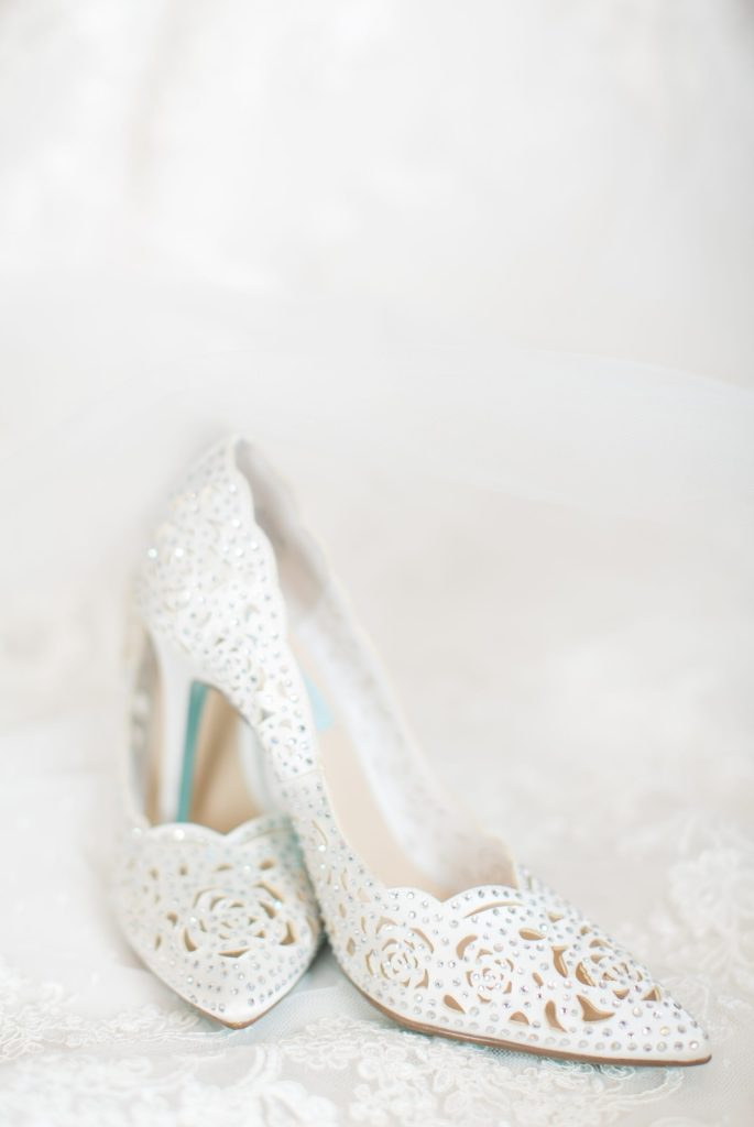 Bettsy Johnson white wedding shoes. White wedding shoe inspiration.