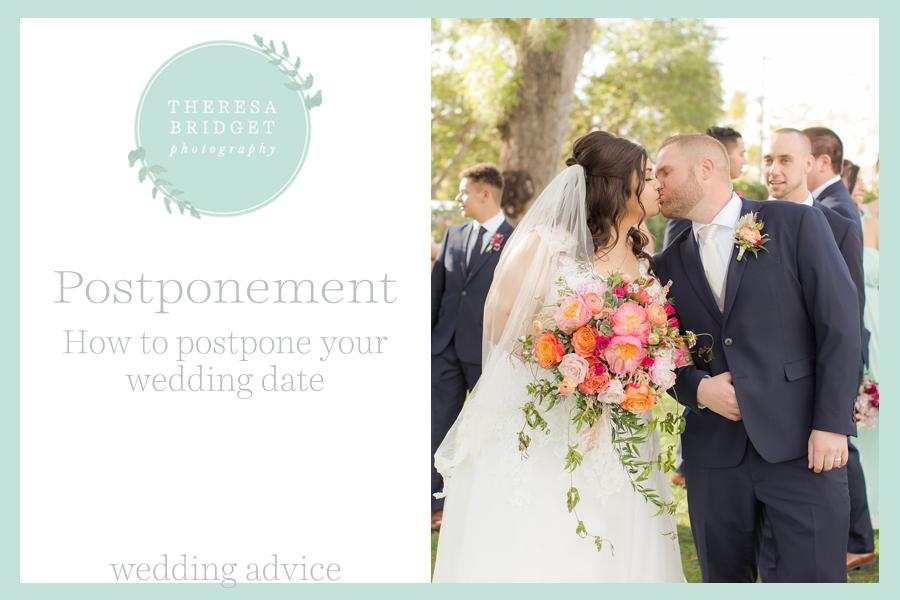 Colorado Wedding Photographer. Steps to postpone your wedding.