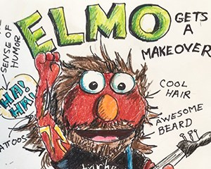 Elmo gets a makeover