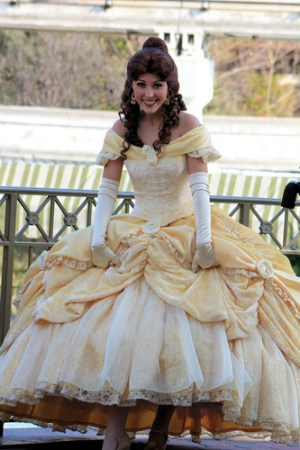 Belle in her gown