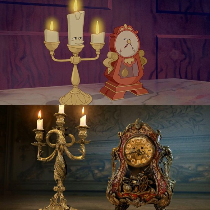 lumiere-cogsworth beauty and the beast