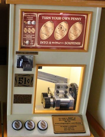 pressed coin machine