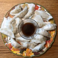 Gluten free Chicken Pot Stickers with dipping sauce