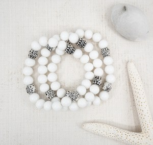 TheresaRoseDesigns-White-8mm-Beaded-Silver-Bracelet-7