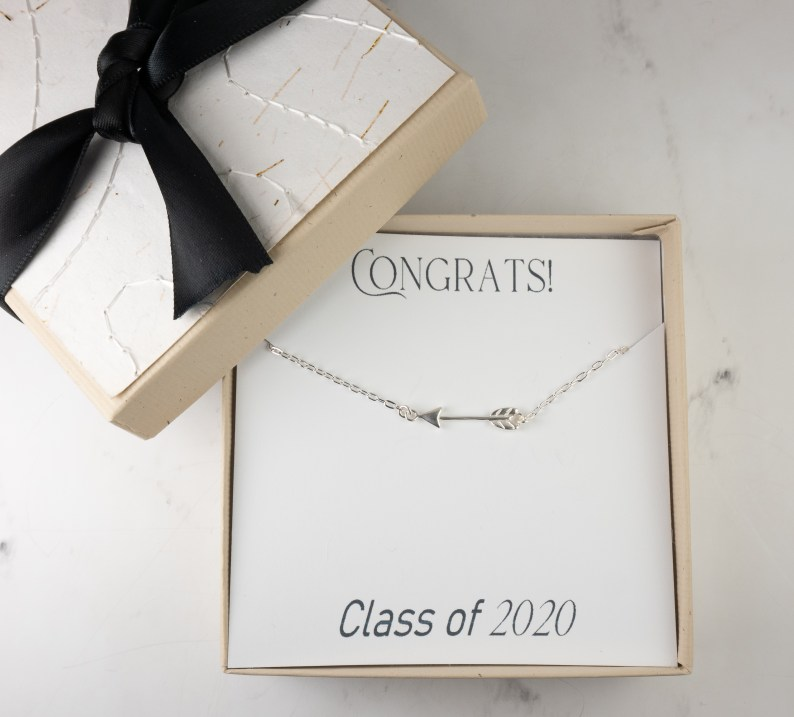 Theresa Rose Designs Silver Arrow Necklace Graduation Gift